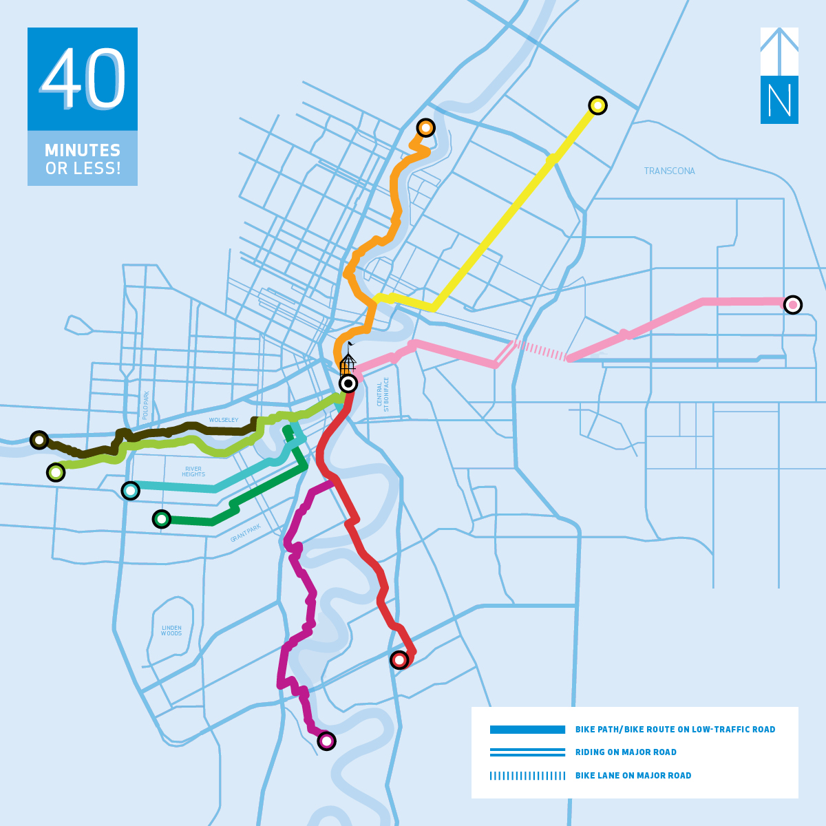 Active Transportation Route Overview Map