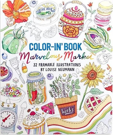 Marvelous Market.Color-In Book