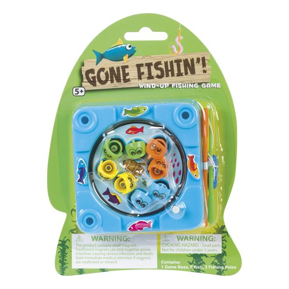 Gone Fishin' Wind-Up Fishing Game